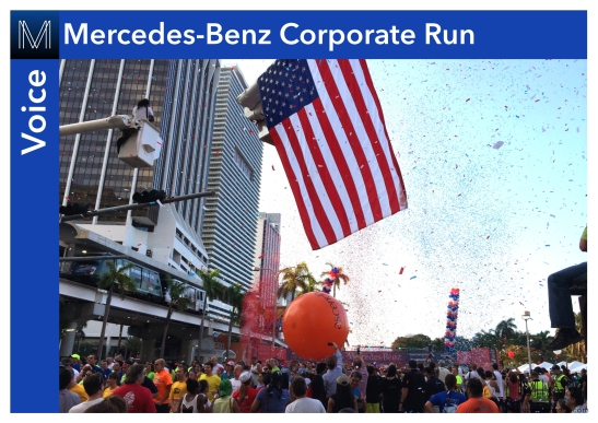 Last thursday close to 26 000 people converged to for Miami mercedes benz corporate run
